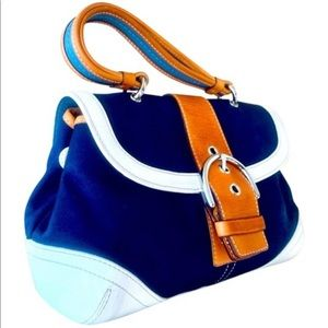 Coach RARE Daisy Soho Buckle Blue Leather Bag 4432